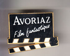 RARE PINS PIN'S .. CINEMA FILM MOVIE STUDIO FESTIVAL FANTASTIQUE AVORIAZ CLAP~CD