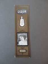 Vintage BOOKMARK OSRAM Lightbulbs Art Series 4 Grief Study by Greuze Advertising