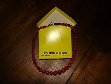 Graduated red sponge coral necklace 18""
