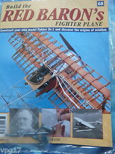 BUILD THE RED BARON'S FIGHTER PLANE FOKKER DR1  HACHETTE  ISSUE 68  NEW SEALED
