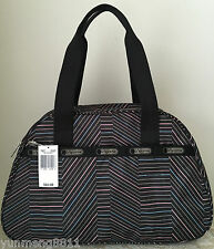 NWT LeSportsac Sidney overnight bag tote purse Balance beam pink black $88