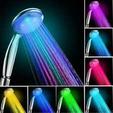 Automatic 7 Color LED Lights Handing Shower Head for Bathroom WA