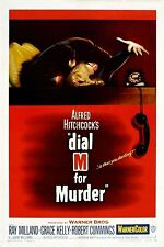 Alfred Hitchcock  Dial M For Murder Film Vintage Cinema Movie Poster Print A4