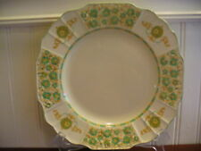 "Myott Stafforshire England Colleen Green Floral Motif 9.75"" Plate F2894"