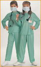Kids Doctor Complete Costume Dress Up Kit Emergency Room Green Unisex Size M NEW