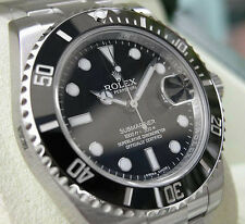 *NEW* MENS ROLEX STAINLESS STEEL CERAMIC BLACK SUBMARINER #116610LN