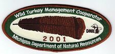 2001 MICHIGAN DNR SUCCESSFUL TURKEY-DEER HUNTER PATCH -HUNTING LICENSES- PINBACK