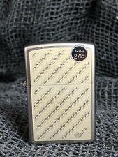 Brand New Zippo Classy Diagonal Wave Smoking Pipe Brushed Chrome Lighter