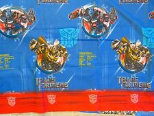 TRANSFORMERS Revenge Of Fallen BED SHEET Top/Flat Twin Bumblebee Optimus Prime