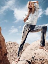 Marciano $400 Elin Kling Mid-Rise Printed Skinny Jeans pants size 27