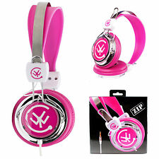 Urbanz ZIP Kids Childrens Girls Headphones Earphones for iPad Hudl Tablet - Pink