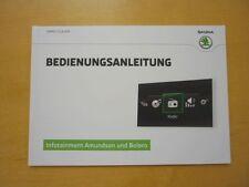 SKODA Infotainment Amundsen und Bolero Bedienungsanleitung (05.2015) **NEU**