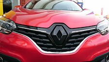 Renault Kadjar 2015+ GLOSS BLACK FRONT BADGE EMBLEM COVER MANY COLOURS