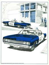 Old Print.  1969 Ford Galaxie 500 Police Cars