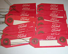 LOT OF 50 NEW FORD OLD SCHOOL SCRIPT PARTS TAGS EARLY DESIGN CAR TRUCK TRACTOR