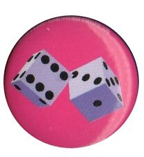 Dice Die Lucky Charm 1 inch Button Pin Badge