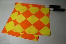 Linesman Flags Set Diamond Pattern Football Rugby Hockey Training Referee Flags