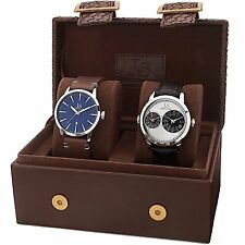 Joshua & Sons Men's JX114SSB Quartz Movement Analog Display Watch Set