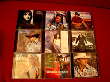 COUNTRY CD'S 9 LOT CARRIE UNDERWOOD GARTH BROOKS GEORGE STRAIT MARK CHESTNUTT