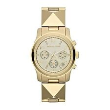 Michael Kors MK5797 Women's Pyramid Gold Tone Runway Bracelet Watch