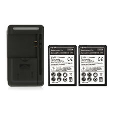 2x 3500Mah Backup Battery + Wall Travel Charger For LG Optimus G Pro 2/D837/D838
