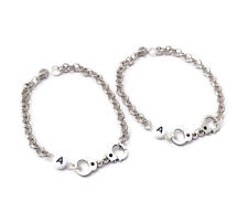 2 Partners In Crime Bracelets Personalised Bracelet Best Friends Set Handcuffs