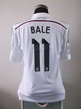 Gareth BALE #11 BNWT Real Madrid Home Football Shirt Jersey 2014/15 (M)