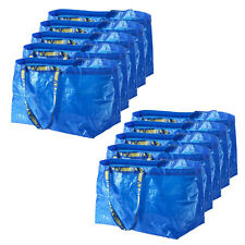 10 x IKEA FRAKTA Large Blue 72L Multi-Purpose Reusable Plastic Carrier Bags