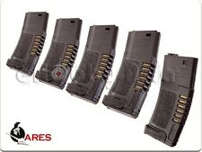 ARES Amoeba 140rd High Grade Mid-Cap Mag for M Series Airsoft AEG BK [5pcs]