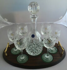 Wine Connoisseur's Vintage Wine Set Of Glasses And Decanter On Tray