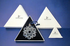 1999 *MIB* Swarovski Crystal Annual Christmas Ornament - STAR / SNOWFLAKE