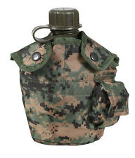 Canteen w/ Cover Woodland Digital Camo Canteen Cover w/ 1 Quart Canteen!