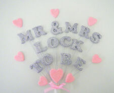 MR & MRS ...... TO BE    perssonalised engagement, wedding cake topper