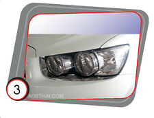 CHROME HEAD LAMP LIGHT COVER FOR CHEVROLET SONIC 4 DOOR SEDAN 2013