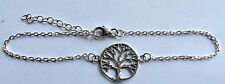 Sterling Silver (925)  Wrist  Bracelet  With Tree  Of  Life  Pendant  !!  New !!