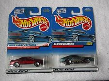 1999 HOT WHEEL FIRST EDITIONS RED MONTE CARLO & COLLECTOR TEAL BLOWN CAMARO