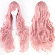 Halloween Women Fashion Lady Long Curly Wavy Hair Party Anime Cosplay Full Wig