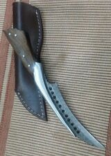 Custom made Beautiful Real Steel, Damascus Navi's Dagger knife, Rose wood handle