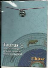 ZODIAC TAURUS 18kt GOLD DIPPED STERLING SILVER PLATED CHARM