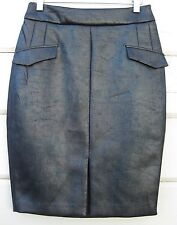 Cameo the Label CUBISM Liquid Black Shimmer Pencil Skirt Wms Small SAMPLE NWT