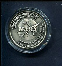 40th Anniversary APOLLO NASA MOON SPACE EXPLORATION ASTRONAUT MISSION Coin