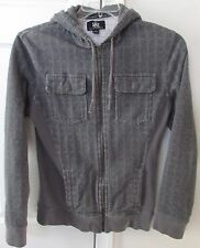 Rock & Republic Gray Full ZIp Hoodie Sweatshirt Adult Small EUC