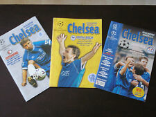 Chelsea v 1999-2000 Season Home Champions League Run Bundle x 3 Programmes