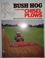 Bush Hog Flex Wing Chisel Plow Sales Brochure 18 to 30-Foot, 28 Models