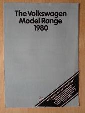 VOLKSWAGEN RANGE 1980 UK Mkt Sales Brochure - Golf GTI Scirocco Polo Passat VW