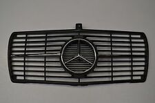 MERCEDES W126 SEC LOOK GRILLE BLACK INSERT CHROME STAR AND 2 TRIMS NEW