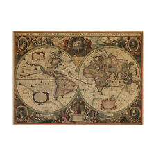 New World Map Wall Poster Art Vinyl Decal Poster Removable Mural Home Decor