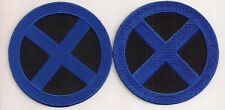 "X-MEN  Blue/Black  ""Blue X""  3.5""  Logo Patch Set of 2-FREE S&H (XMPA-05-Set)"