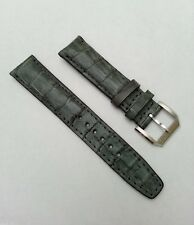 Alligator 20mm gray strap IWC buckle band portuguese santoni portofino pilot nr
