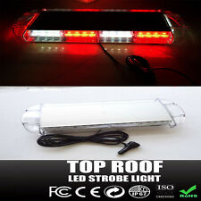"Cree 40 LED Red Clear White Emergency Plow Tow Truck 22"" Strobe Light Bar Roof"